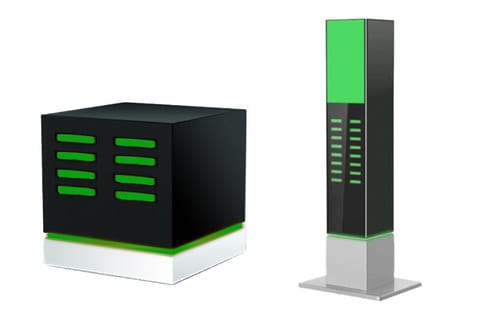 chargemeのモバイルバッテリーレンタル・シェアリングサービスステーション